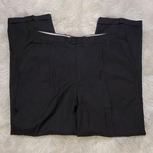 Zanella Bennett Dress Pants Gray Herringbone 38x32